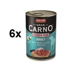 Animonda Adult Gran Carno mořský losos + špenát 6 x 400g