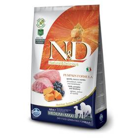 N&D Grain Free Pumpkin DOG Adult M/L Lamb & Blueberry 2,5kg