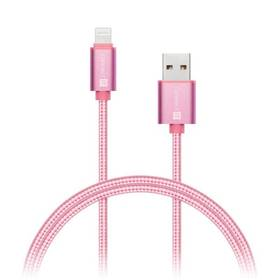 Connect IT Wirez Premium Metallic USB/Lightning, 1m (CI-970) růžový