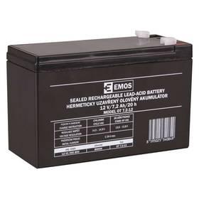 EMOS bezúdržbový 12 V/7,2 Ah, faston 4,7 mm (B9654)