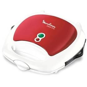 Sendvičovač Moulinex SW611533 bílý/červený