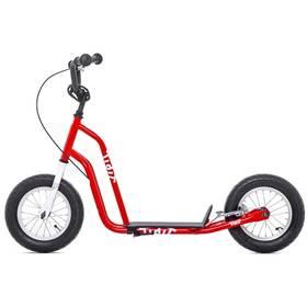 """Yedoo Basic Tidit 12"""" červená + Reflexní sada 2 SportTeam (pásek, přívěsek, samolepky) - zelené v hodnotě 58 Kč + Doprava zdarma"""