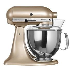 KitchenAid Artisan 5KSM150PSECZ zlatý Příslušenství k robotu KitchenAid KB3SS nerezová mísa (3l) (zdarma)Příslušenství k robotu KitchenAid 5KFE5T plochý šlehač se stěrkou (zdarma) + Doprava zdarma