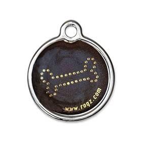 Známka Rogz Metal Bronze Bone kovová L