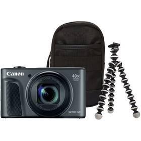 Canon PowerShot SX730HS, Travel Kit (1791C016AA) černý + Doprava zdarma