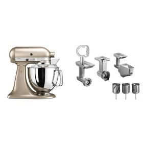 Set KitchenAid - kuchyňský robot 5KSM175PSECZ + FPPC balíček s příslušenstvím + K nákupu poukaz v hodnotě 3 000 Kč na další nákup + Doprava zdarma