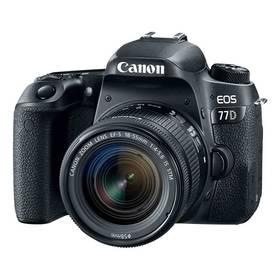 Canon EOS 77D + 18-55 IS STM (1892C017AA) černý + Cashback 2700 Kč + Doprava zdarma