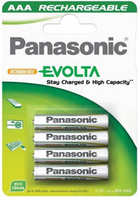 Panasonic Evolta AAA, HR03, 750mAh, Ni-MH, blistr 4ks