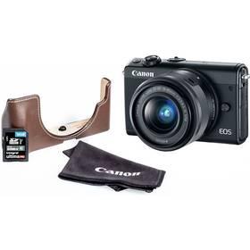 Canon EOS M100 + EF-M 15-45mm + EH31FJ + 16GB (2209C098) černý + Doprava zdarma