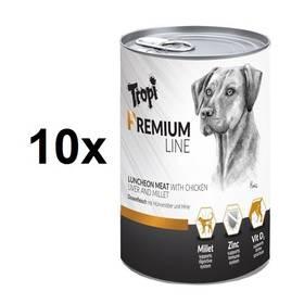 Tropi Premium line Dog s kuřecím a jáhly 10 x 400 g