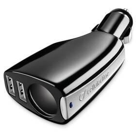 CellularLine CL, 2 x USB (TRIPLEPOWER) čierny