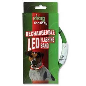 Obojok Dog Fantasy LED světelný 45cm zelený
