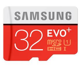 Samsung Micro SDHC EVO+ 32GB UHS-I U1 (80R/20W) + adapter (MB-MC32DA/EU)