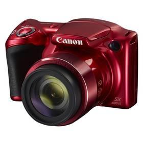 Canon PowerShot SX420 IS červený Paměťová karta Kingston MicroSDHC 16GB UHS-I U1 (45R/10W) + adapter (zdarma) + Doprava zdarma