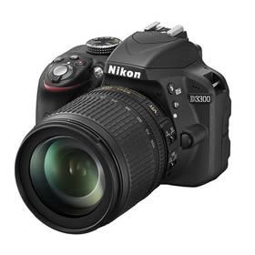 Nikon D3300 + 18-105 AF-S DX VR černý Paměťová karta Kingston MicroSDHC 32GB UHS-I U1 (45MB/s) + adaptér (zdarma) + Doprava zdarma