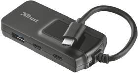 Trust USB-C / 2x USB 3.0 + 2x USB-C (21321) černý + Doprava zdarma