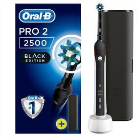 Zubná kefka Oral-B PRO 750 Black Cross Action čierny