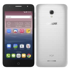 ALCATEL POP 4+ 5056D (5056D-2FALE11) stříbrný SIM s kreditem T-Mobile 200Kč Twist Online Internet (zdarma)