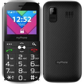 myPhone Halo C Senior s nabíjecím stojánkem (TELMYSHALOCBK) černý