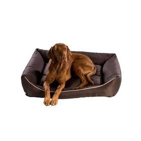 Pelech Argi pro psa obdélníkový - 90x70 cm / snímatelný potah hnedý