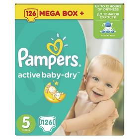 Pampers Active Baby-dry vel.5 Junior, 126ks