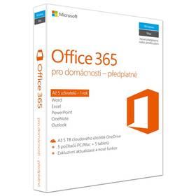 Microsoft Office 365 pro domácnosti CZ (6GQ-00721) + Doprava zdarma
