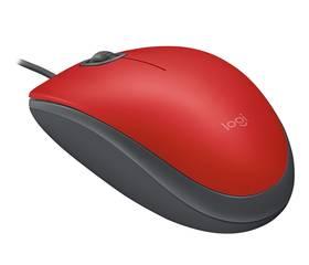 Logitech M110 Silent (910-005489) červená
