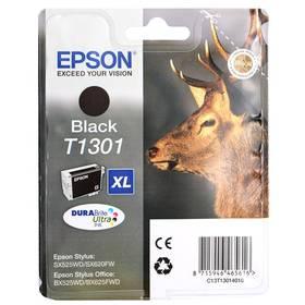 Epson T1301, 25ml - originální (C13T13014010) černá (Náhradní obal / Silně deformovaný obal 8216085699)