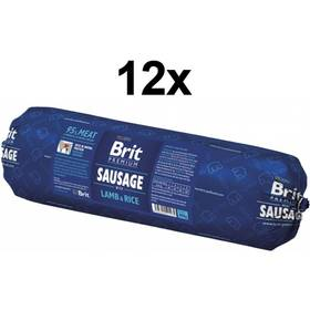 Konzerva Brit Sausage with Lamb & Rice 12 x 800g