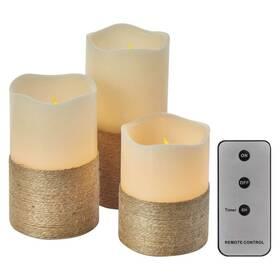EMOS 3x svíčka s provázkem, 3x 3xAAA, ovladač, časovač (1534214100)