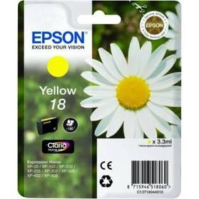 Epson T1804, 180 stran - originální (C13T18044010) žlutá