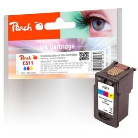 Peach Canon CL-511,385 stran, kompatibilní (314480) červená/modrá/žlutá (vrácené zboží 8800991376)