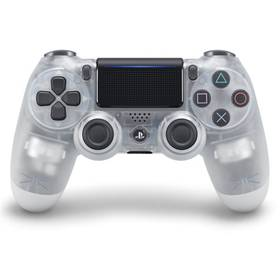 Sony Dual Shock 4 pro PS4 v2 - křišťálový (PS719868361) + Doprava zdarma
