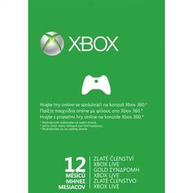 Microsoft Xbox LIVE Gold - zlaté členství 12 měsíců (52M-00311) + Doprava zdarma