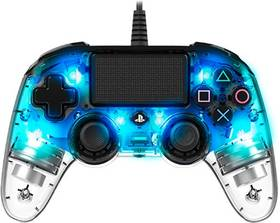 Gamepad Nacon Wired Compact Controller pro PS4 (ps4hwnaconwicccblue) modrý/průhledný