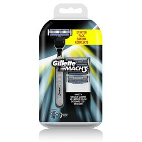 Gillette Mach3 (strojek + 3 hlavice)