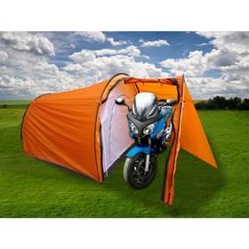 Calter Biker pro 3 osoby, s předsíňkou pro motocykl oranžový + Doprava zdarma