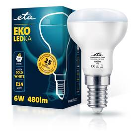 ETA EKO LEDka reflektor 6W, E14, studená bílá (R50W6CW)