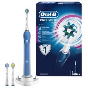Oral-B PRO 3000 bílý/modrý + Doprava zdarma