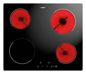 Sklokeramická varná deska Mora VDS 630 C černá/sklo
