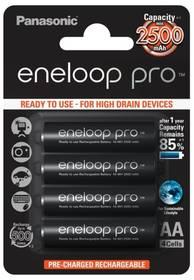 Panasonic Eneloop Pro AA, 2500mAh, 4 ks (BK-3HCDE/4BE) černá