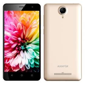 Aligator S5062 Dual SIM (AS5062GD) zlatý SIM s kreditem T-Mobile 200Kč Twist Online Internet (zdarma)Software F-Secure SAFE 6 měsíců pro 3 zařízení (zdarma)