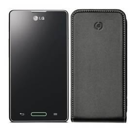 Celly Face flip pro LG Optimus L5 II, kožený (FACE310) černé (poškozený obal 5800134510)