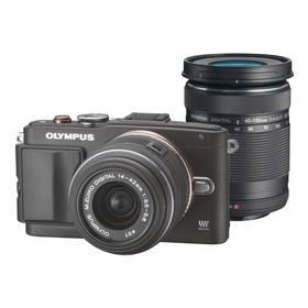 Set výrobkov Olympus E-PL6 + 14-42mm II R + 40-150mm R + obal zdarma čierny