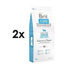 Brit Care Grain-free Junior Large Breed Salmon & Potato 2 x 12 kg + Doprava zdarma