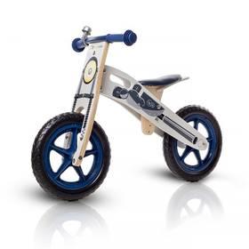 """KinderKraft Runner Motorcycle 12"""" modré + Reflexní sada 2 SportTeam (pásek, přívěsek, samolepky) - zelené v hodnotě 58 Kč + Doprava zdarma"""