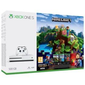 Microsoft Xbox One S 500 GB + Minecraft, Minecraft Story Mode, 3 měsíční Zlaté členství Xbox Live (ZQ9-00297) + Doprava zdarma