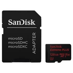Sandisk Micro SDXC Extreme Plus 128GB UHS-I U3 V30 (95R/90W) + adapter (SDSQXWG-128G-GN6MA ) černá + Doprava zdarma