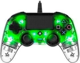 Nacon Wired Compact Controller pro PS4 (ps4hwnaconwicccgreen) zelený/priehľadný