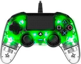 Gamepad Nacon Wired Compact Controller pro PS4 (ps4hwnaconwicccgreen) zelený/priehľadný